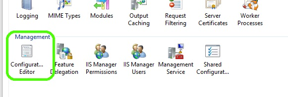 Select Configuration Editor
